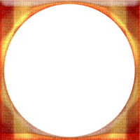 Orange Yellow Circle Frame
