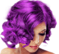 woman purple hair femme violet