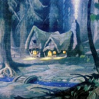 SNOW WHITE HOUSE FOREST BLANCHE NEIGE MAISON FOND