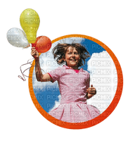Kaz_Creations Baby Enfant Child Girl Circle Balloons