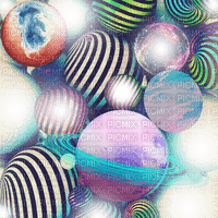 surreal abstract planet background effect fond  hintergrund