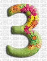 image encre numéro 3 fleurs bon anniversaire edited by me
