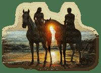 couple à cheval