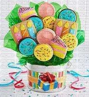 multicolore image encre pâtisserie bouquet bon anniversaire ink ivk edited by me