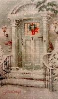 Vintage, Winter, Tür, Hintergrund