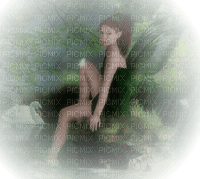 fairy woman green femme feerie vert