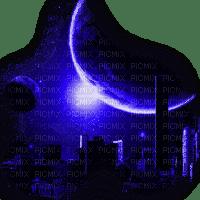 city moon blue