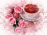 cup of tea roses deco