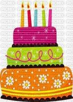 multicolore image encre gâteau pâtisserie bon anniversaire cadre rouge vert bleu jaune edited by me