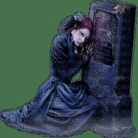 woman goth grave femme gothique