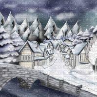 Background Blue White Winter  - Bogusia