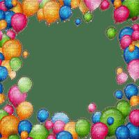 birthday balloons frame cadre anniversairy