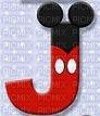 image encre lettre J Mickey Disney edited by me