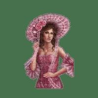 femme chapeau rose