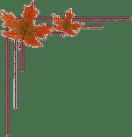 Coin feuille automne corner leaf autumn
