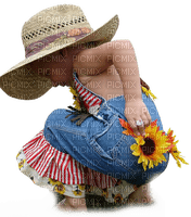 enfant child girl  sunflower tournesol