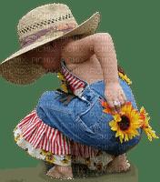 enfant child girl  sunflower tournesol