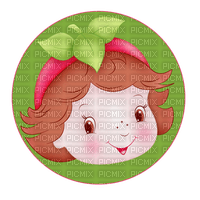 Kaz_Creations Cute Girl Circle Strawberry Shortcake