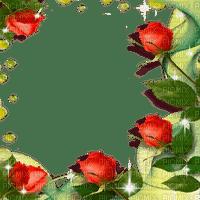 ROSES FRAME RED DECO rose rouge cadre