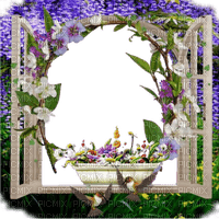window fenster frame cadre fenêtre tube fond background spring printemps flower fleur branch lilac purple blumen rahmen plant grass