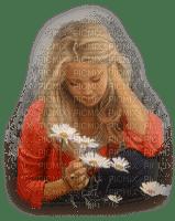 enfant fillette marguerite   child girl daisy