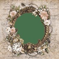 frame cadre rahmen  tube vintage circle flower fleur sepia fond background