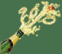 champagner bottle new year deco bonne annee