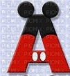 image encre lettre A Mickey Disney edited by me