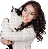 woman cat femme chat