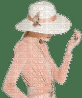 kvinna-hatt-rosa