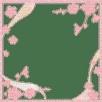 Sakura cadre frame rose pink fleur flower cornice