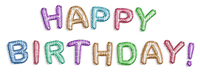 text happy birthday balloon pink