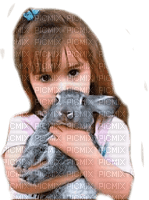 little girl bunny  fillette lapin