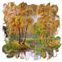 automne paysage autumn forest bg