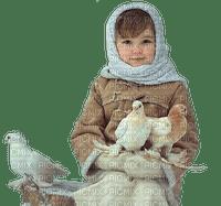 child enfant doves pigeons