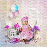 image encre couleur texture effet anniversaire enfant arc en ciel pastel ballons  edited by me
