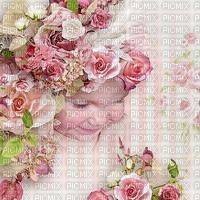 image encre couleur texture effet fille fleurs printemps pastel bébé  edited by me