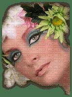 femme,fashion,fille,visage,fleur,deko,tube, Pelageya