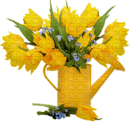 Tulips.Tulipes.Pot.Vase.Deco.Yellow.Bouquet.Arrosoir.Sprinkler.Victoriabea