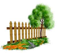 Kaz_Creations Garden Deco Flowers Fence