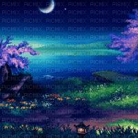 Debutante fond paysage féerique fantastique nuit lune bg fantasy moon night