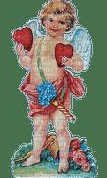 St. Valentin Angel love heart vintage_Saint Valentin ange amour cœur