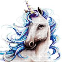 unicorn blue licorne bleu