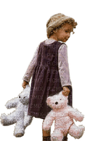child girl teddy  enfant fille ours 👩👩