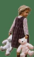 child girl teddy  enfant fille ours 👩👩