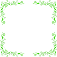 GREEN FLOWER FRAME cadre fleur vert