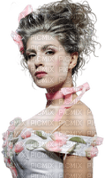 Woman Pink White Flower  - Bogusia