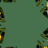 frame deco green black cadre vert noir