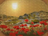 paysage avec fleur.Cheyenne63