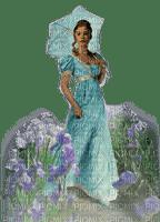 charmille _ femme en bleu